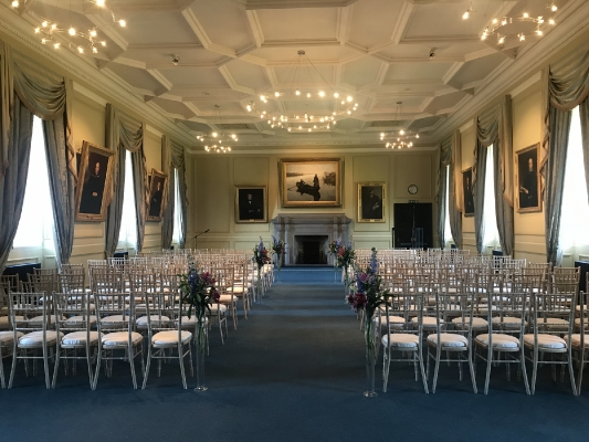 Lower College Hall wedding ceremony