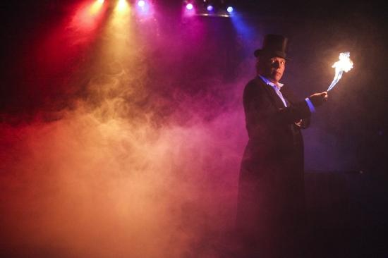 Simon Drake on stage