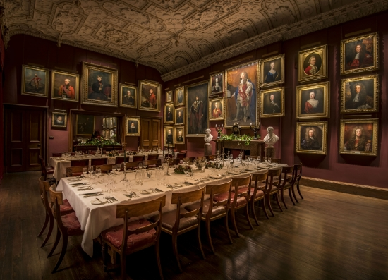 Dinner in the State Dining Room, Thirlestane Castle