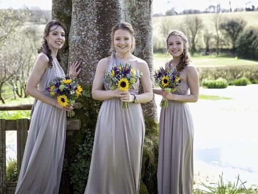 Bridesmaids enjoying the grounds
