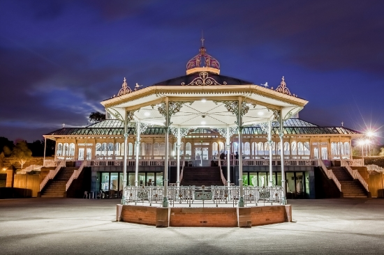 Bandstand in the evening