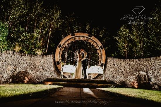 Evening Wedding Garden Photo