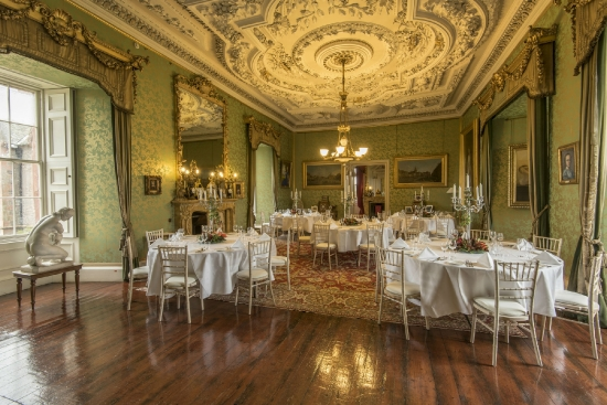 Dinner in the State Drawing Room, Thirlestane Castle