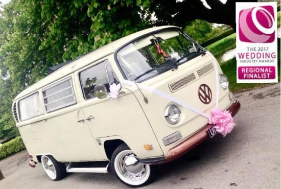 Moonstruck VW Campervan Wedding Car Hire in Staffordshire