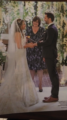 a celebrity wedding ceremony for Samia & Sylvain in OK magazine